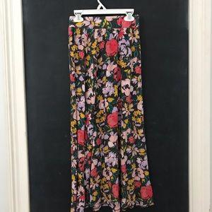 Girls floral maxi-skirt